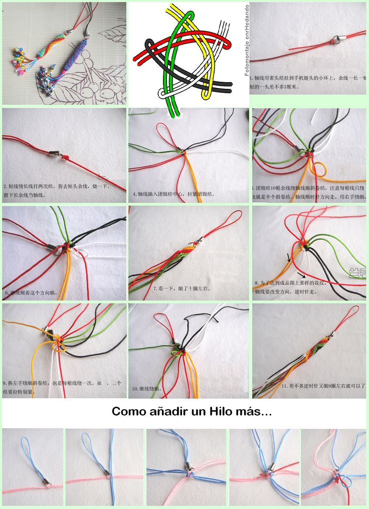 Colgantes de nudos macrame and bracelets pinterest for Nudos para colgantes