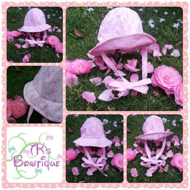 Handmade by Mel TKs Bowtique OOAK (one of a kind) reversible hat