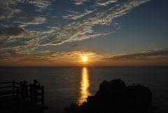 天草下田温泉近くの展望所 鬼海ヶ浦展望所からの夕陽です  天草にはカ所の夕陽の名所がありここもその一つに選ばれてます  天気がいいと東シナ海に沈む夕陽が見れますよ  tags[熊本県]