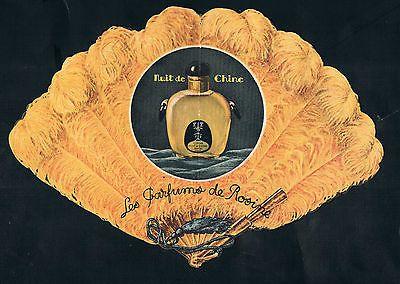RARE CARTE PARFUMEE ancienne NUIT DE CHINE pour PARFUMS de ROSINE Paul Poiret