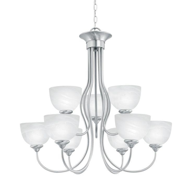 tahoe chandelier brushed nickel 9x60w