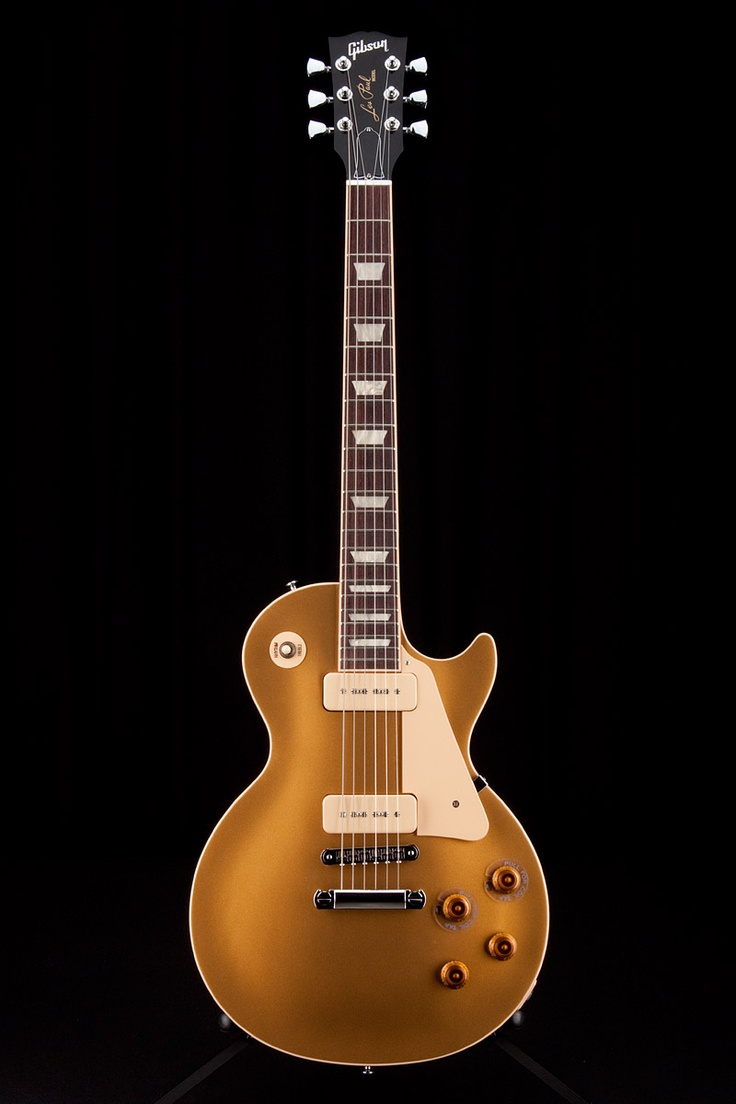 Gibson Les Paul Traditional Pro P90s Gold Top It's the Gibson with 2 P90s, trapezoid inlays, and bound body. Not Epiphone. Not studio.
