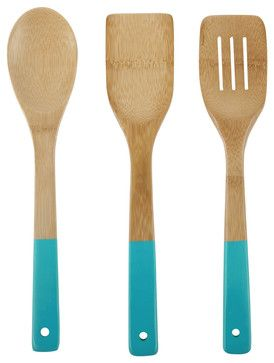 3 Piece Colored Bamboo Utensil Set - modern - cookware and bakeware - new york - Core Bamboo