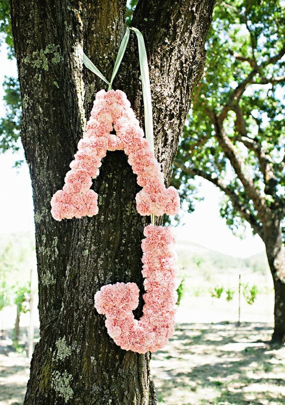 floral letters  | 100 Layer Cake