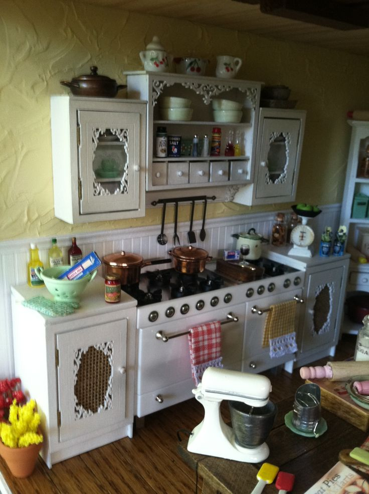 273 Best Miniature Kitchens Images On Pinterest Doll