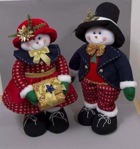 Pareja de muñecos de nieve | Ideas para el hogar | Pinterest ...