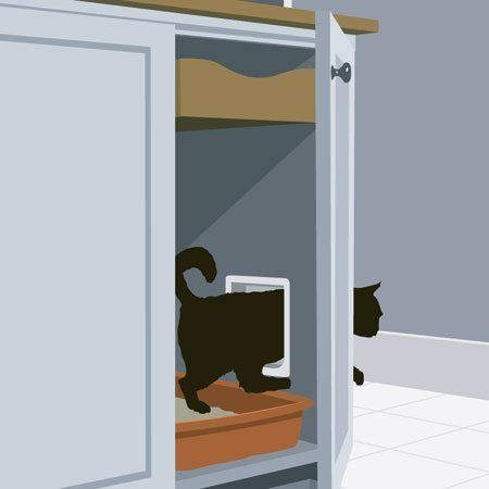 17 best images about kitty kat stuff on pinterest cats cat litter boxes and modern - Litter boxes for small spaces paint ...
