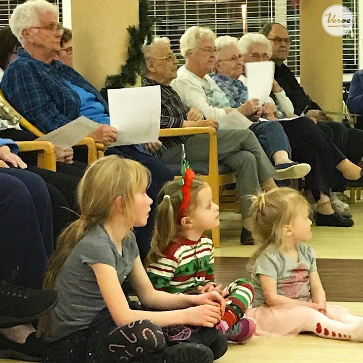 Young and old enjoyed a Christmas concert at the Dr. James Hemstock Residence. 🎅 #Christmas