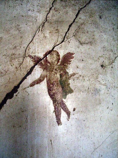 Angel Of Pompeii by coffeebean    One of the many paintings on the walls that have survived in the ruins of the city of Pompeii, Italy.    Featured in the Woman Photographer group, RedBubble, June 2009
