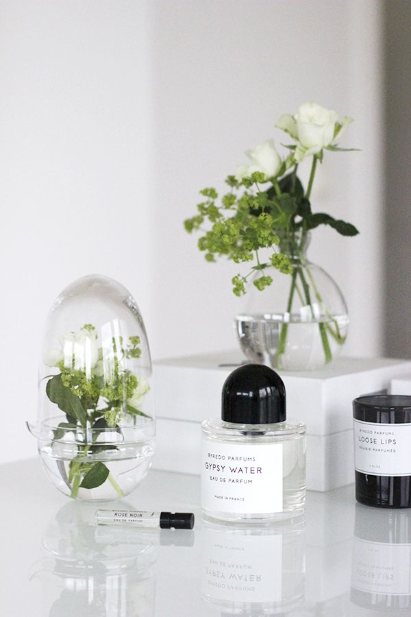side table styling // byredo parfums