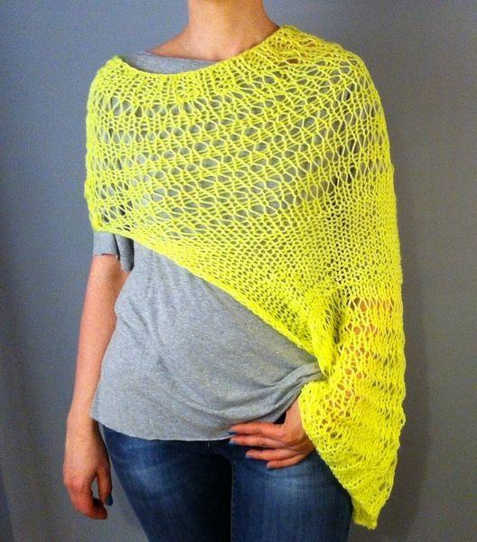 Narzutka wdzianko bolerko dziergane na drutach - LazySweater - Swetry i bezrękawniki
