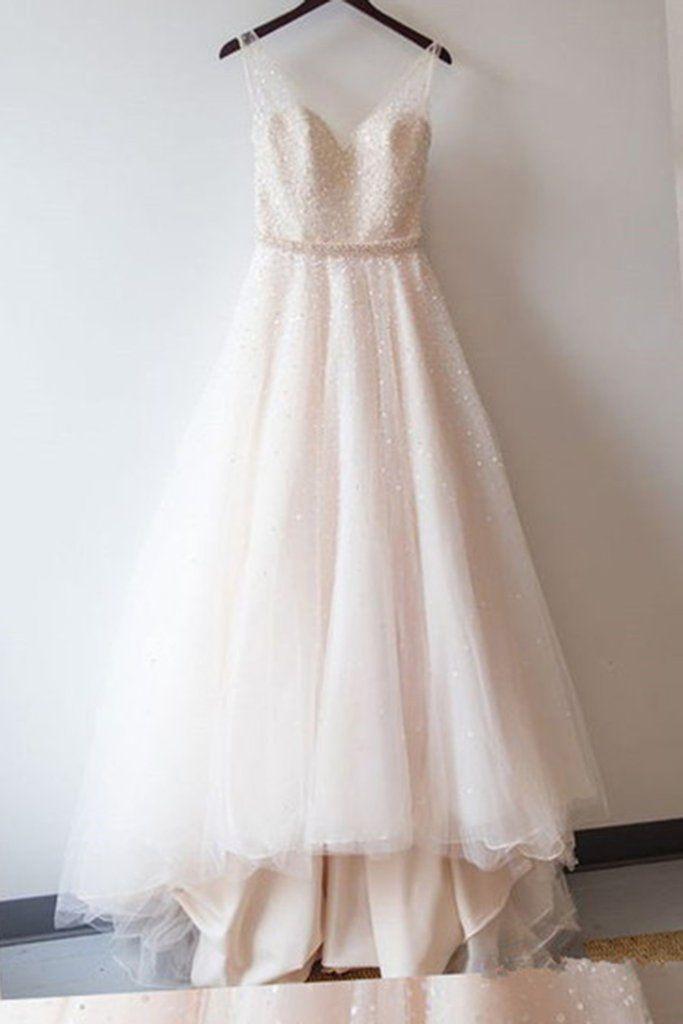 V-Neck Ivory Prom Dress,Long Prom Dresses,Charming Prom Dresses,Evening Dress Prom Gowns, Formal Women Dress,prom dress,X27