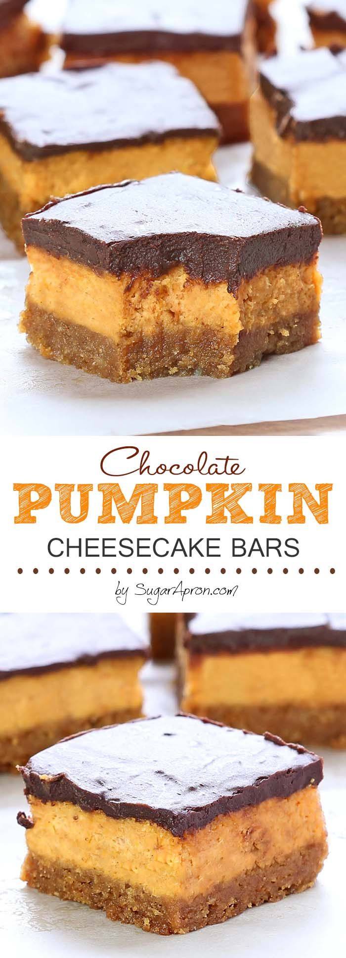 These bars are creamy, chocolate-ly, packed with pumpkin and cream cheese…