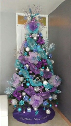 My blue & purple Christmas tree €£@