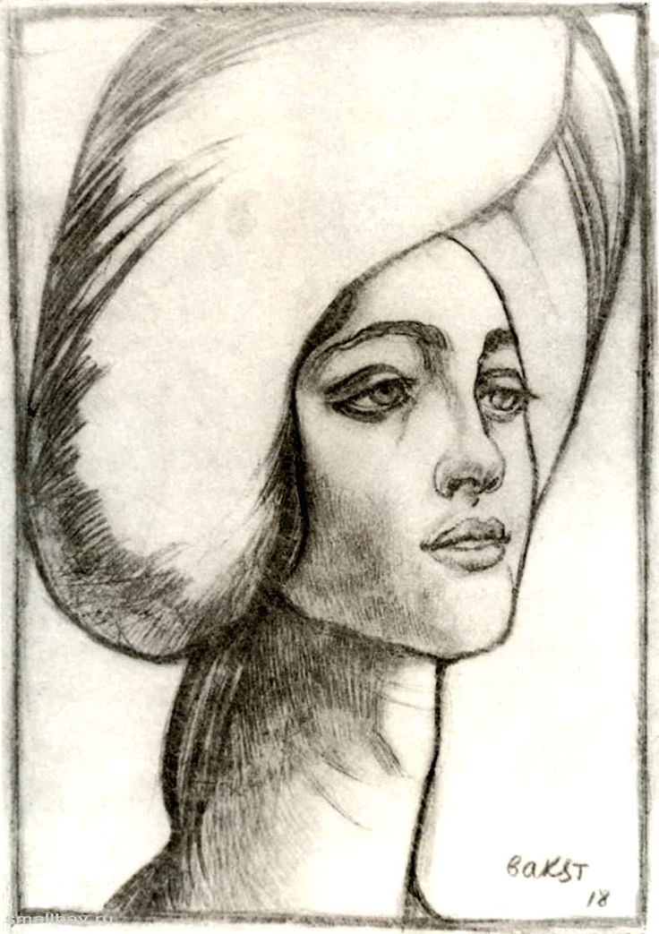 Лев Самойлович Бакст - Портрет мадам Т, 1918