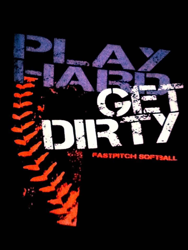 """Softball design... We could do this on a blue shirt: make the blue font black and say """"love"""" and the white say """"gloves"""""""