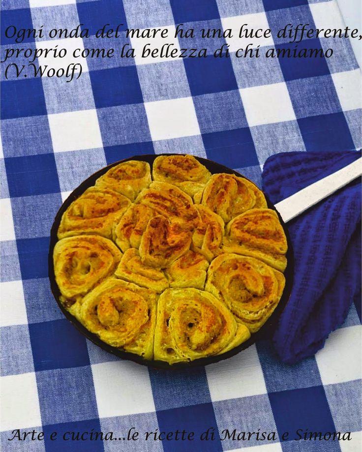 Arte e cucina...le ricette di Marisa e Simona: Torta di rose salata di farro e kamut