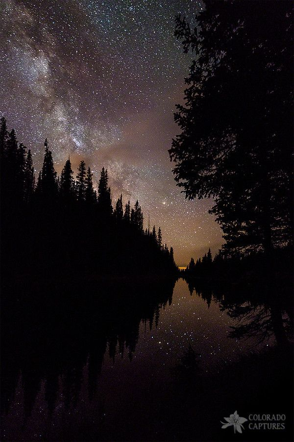 Lake Irene, Rocky Mountain National Park, Colorado; photo by Mike Berenson - Colorado Captures on 500px: Photos, Starry Night, Stars, Beautiful, Posts, Silhouette Curves, Mike Berenson, Places, Natural