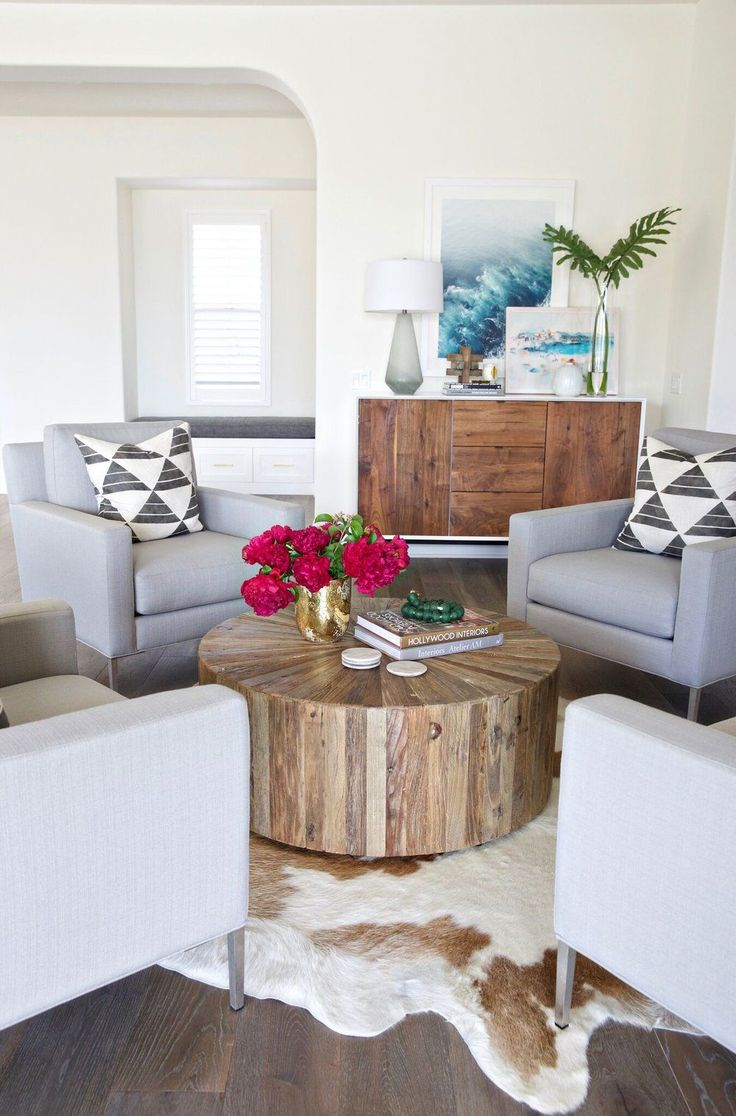 Gorgeous Coastal Modern Seating Area. Take A Peek Into A Newly Designed  Southern California Interior