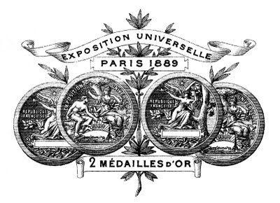 Clip Art Vintage - Cadre Paris avec Banner - La Fée Graphics