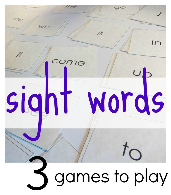 3 all-time best games to play with sight words   early literacy   free sight word printables   teachmama.com #weteach