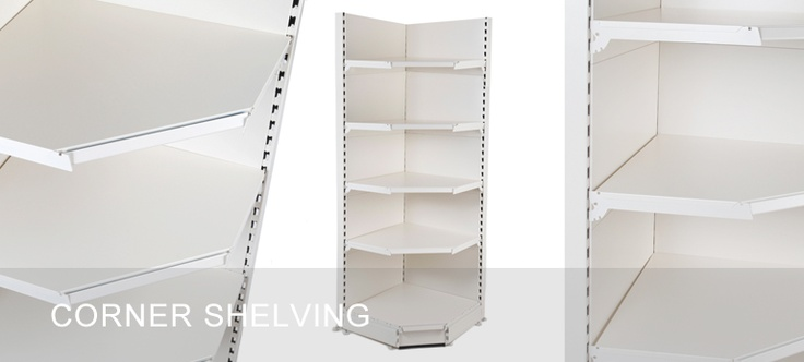 Corner Shelving - for making use of wasted corner shelving space