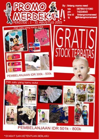momsneed'shop: Baju anak gratis - promosi baby online shop