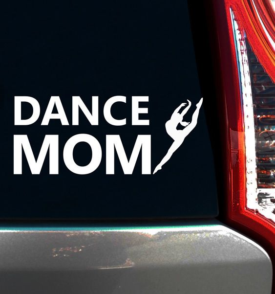 Dance Mom Leap Window Decal. Show pride in your dancer with a dance mom decal on your car!