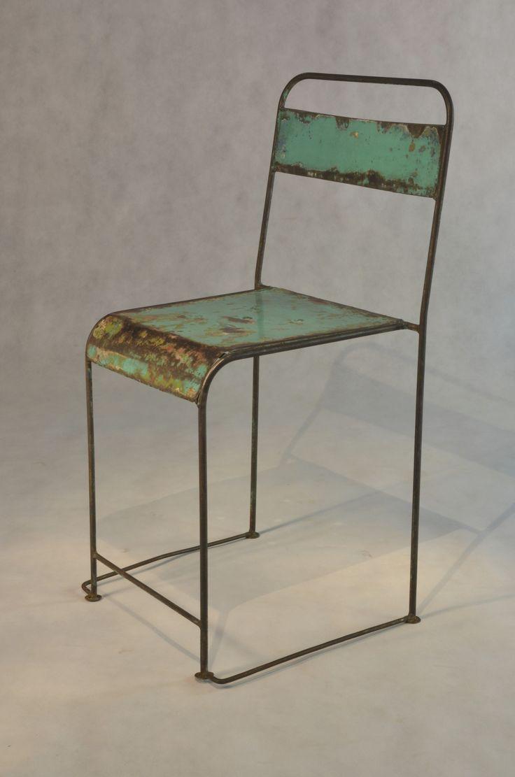 Meer dan 1000 ideeën over oude metalen stoelen op pinterest ...