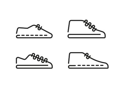Shoe icons by Romualdo Faura