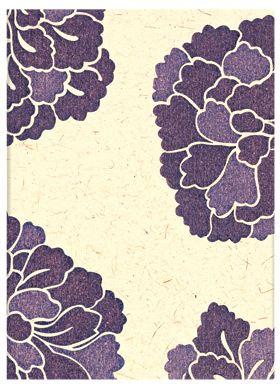 "Paperblanks' ""Botan"" journal; part of the Ukiyo-e Kimono Patterns collection"