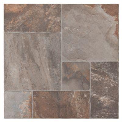 This 17in X 17in Brown Mix Aran Stone Anti Slip
