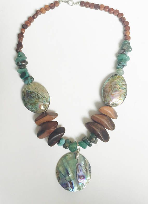Earthly+Wonder*+abalone+shell+pendant+necklace