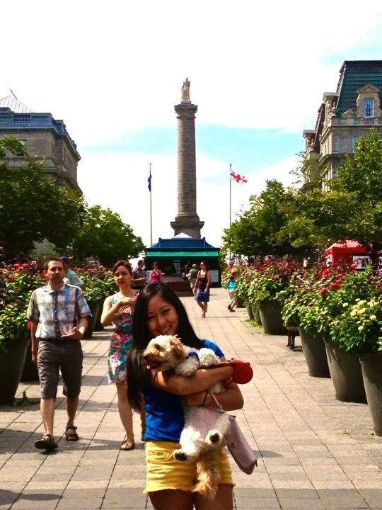 Me in Old Port Montreal. This outfit could work with the flats mentioned previously! #myshoestory #jcrew