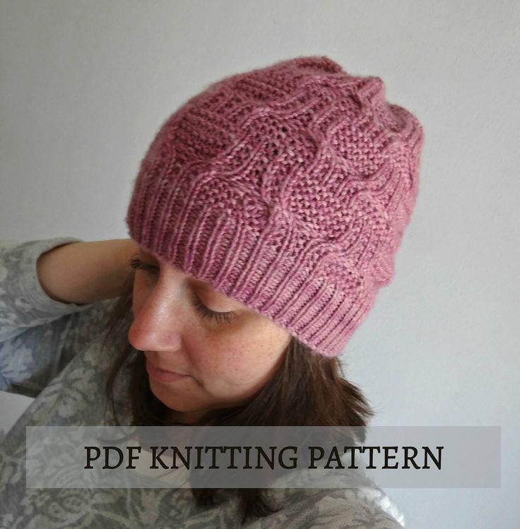 PDF knitting pattern / Atenea hat tutorial, etsy pattern, knitted beanie
