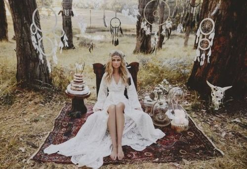 Boho Hippie Gypsy Wedding Dresses Bohemian bride Pretty Dresses