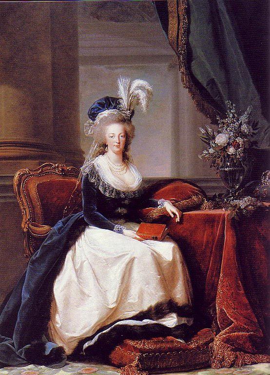 Marie Antoinette : en 1788 antes de su derrocamiento