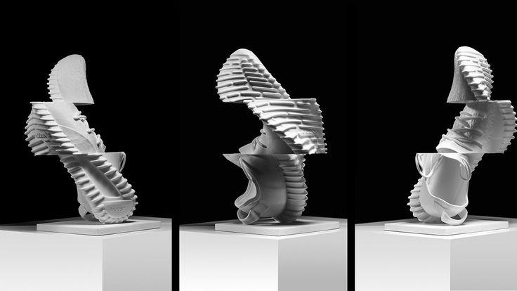 Yeezy Boost Glitch Sculpture by Shane Griffin