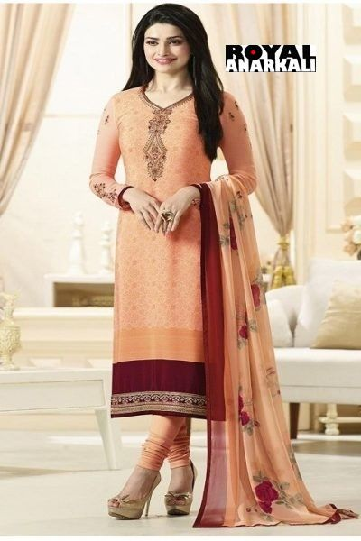 Attractive Peach Color Designer Salwar Suit Suits Pinterest