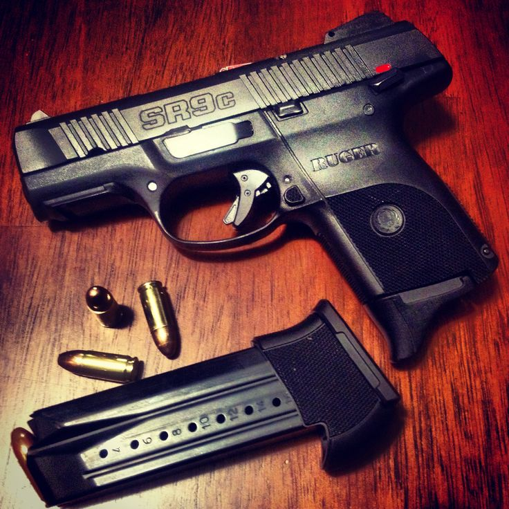 Ruger SR9c (9mm) with a 17 round clip - Add a laser sight for one of the coolest conceal and carry guns ever. Very compact and easy to shoot.