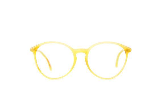 b2198f373af Panto woman mens PRO Design round cute nice club line original Frames  eyeglass Germany Vintage glasses 80s creme transparency
