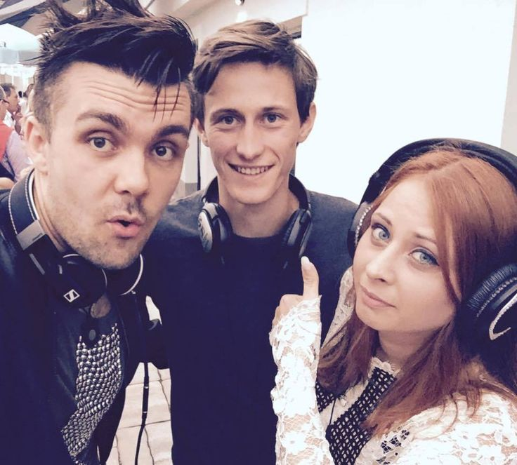 Peter Prevc and Slovenian Eurovision contestants Maraaya :) Via Maraaya facebook page