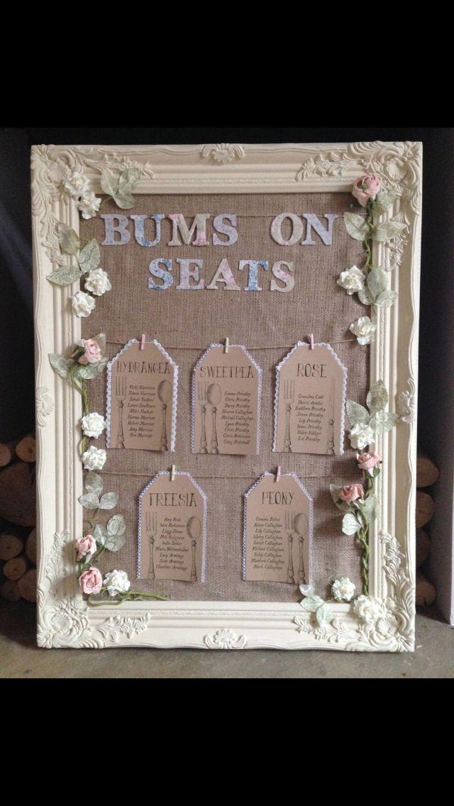 wedding table plan minus bums on seats