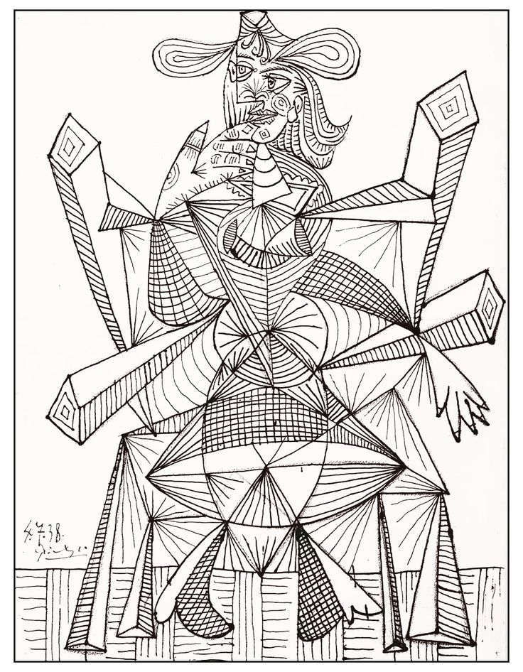 81 best picasso imprimible images on pinterest | pablo picasso ... - Famous Art Coloring Pages Picasso