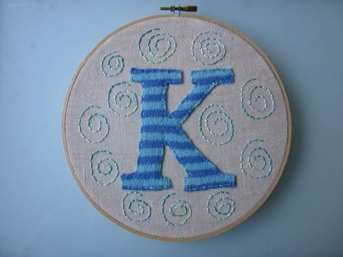 Typography wall art. Hand embroidery, upcycled felted wool sweater hoop wall art!
