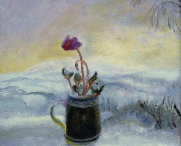 Flower in a Winter Landscape   Winifred Nicholson