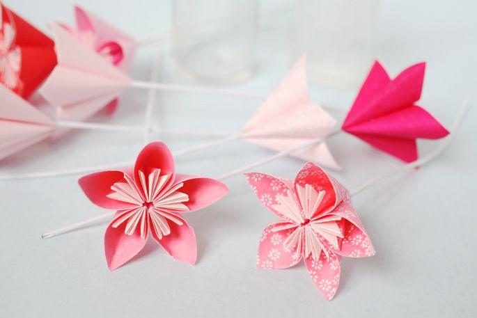 17 best ideas about fleur en origami on pinterest fleurs - Comment faire une rose en papier facile ...