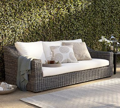 Monterey All-Weather Wicker Sofa #potterybarn
