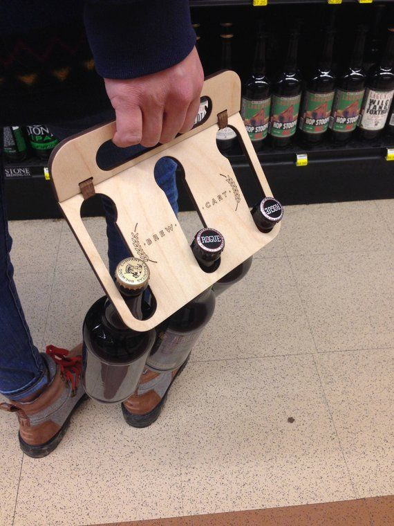 SIX Pack Beer Caddy-12 oz. and 22 oz. Bombers