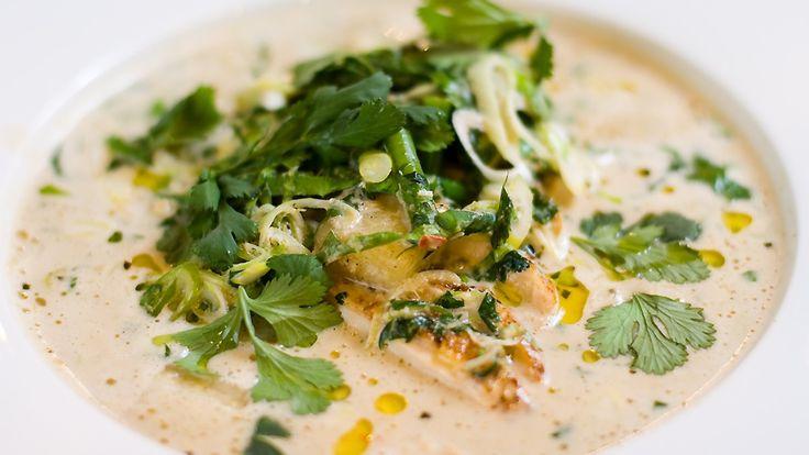Grønn curry med kylling